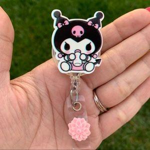 Sanrio Kuromi  Retractable Badge Holder